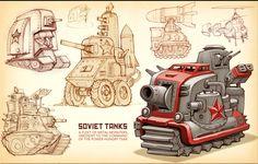 Tank Design, Prop Design, Game Concept, Concept Cars, Game Props, Military Guns, Cyberpunk Art, Art Sites, Machine Design