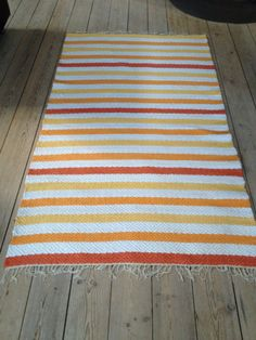 By Grethe Donohoe Rag Rugs, Loom Weaving, Recycled Fabric, Woven Rug, Rug Making, Shawl, Recycling, Outdoor Blanket, Textiles