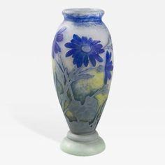 French Art Nouveau Cameo Glass Vase by Daum by   Daum