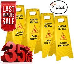 Tiger Chef Yellow Wet Floor Caution Sign, 2-sided Fold-ou... http://www.amazon.com/dp/B0098K7X4E/ref=cm_sw_r_pi_dp_3aFqxb1M91RF9