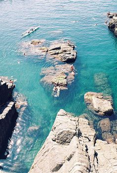 Aqua marine - Riomaggiore coast  | by idiot's dream
