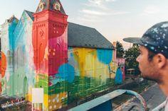 hense con su iglesia de #graffiti