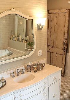 I have this mirror, now to design the bathroom....