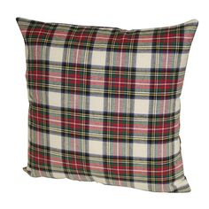 """Dress Stewart"" plaid, throw pillow: Stewart ancestry - great item for heritage in library"