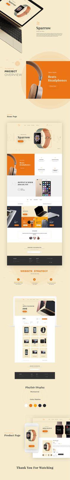 Sparrow Online Store Design on Behance