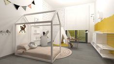 Ideas para decorar la habitación de tu bebé #bébé #habitacionesinfantiles Cama Ikea, Bathroom Interior, Bunk Beds, All About Time, Life Hacks, House Plans, Toddler Bed, Interior Design, Furniture