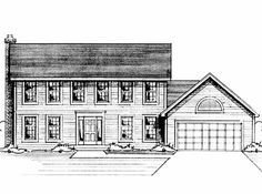 Eplans Colonial House Plan - Four Bedroom Colonial Revival - 2129 Square Feet and 4 Bedrooms from Eplans - House Plan Code HWEPL57599
