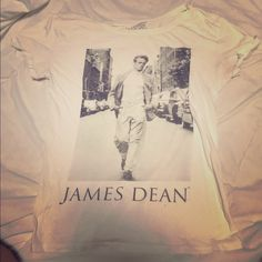 362df30b3 James dean graphic t shirt Rolled up sleeves white James dean graphic  Pull&Bear Tops Tees - Short Sleeve