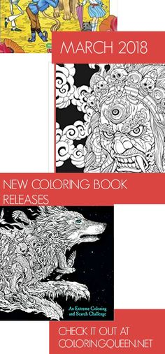 Check Out My Pick Of The New Coloring Book Releases For March 2018