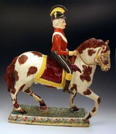 Staffordshire figure of Wellington on Horseback