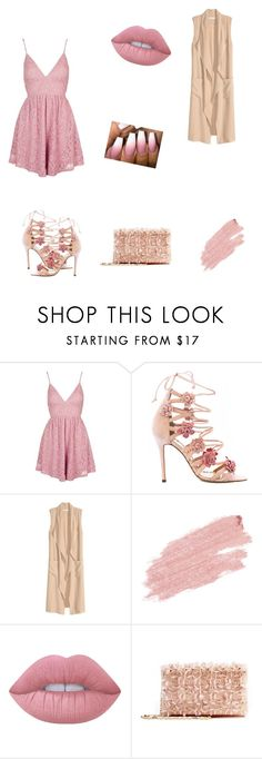 """""""Untitled #39"""" by fefe-tifanie ❤ liked on Polyvore featuring Topshop, Marchesa, Jane Iredale, Lime Crime and Oscar de la Renta"""