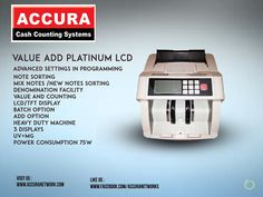 New value add Platinum LCD Currency Counters  please find : @Accuranetworks #New #ValueAdd #Platinum #LCD #CurrencyCounters http://www.accuranetwork.com/