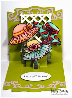 Hats Off to You..... Pop up card