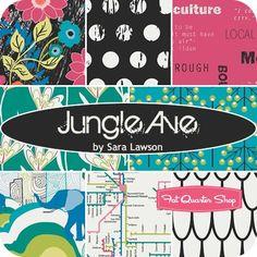 Jungle Ave Yardage Sara Lawson for Limited Edition of Art Gallery Fabrics | Fat Quarter Shop