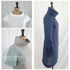 El francés Dart cambio túnica PDF patrón, patrón de costura de túnica, patrón de costura para mujeres, superior patrón de costura, patrón de túnica, vestido de patrón, PDF