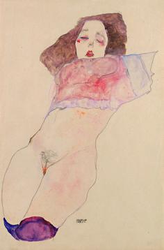"""Egon Schiele - """"mädchen unterleib"""""""