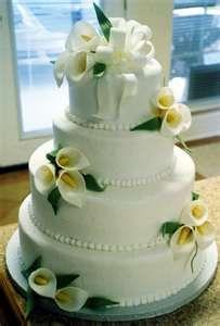 Amazing wedding cake w/Calla Lilies