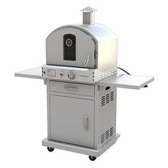 "Pacific Living 22.8"" Outdoor Pizza Oven Gas Grill with Cart"