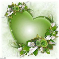 I love the green color of this lovely heart shaped, flower embellished...not sure what it is, perhaps a paper weight?  Regardless, it is a sweet pretty little thing.