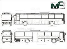 Mercedes-Benz Integro UE16 (2007) - blueprints (ai, cdr, cdw, dwg, dxf, eps, gif, jpg, pdf, pct, psd, svg, tif, bmp)