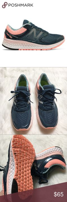 New Balance Fresh Foam 1080 V7 Running Shoes New Balance Fresh Foam 1080 V7 - Womens Running Shoes Supercell/Sunris In excellent like new condition worn once! New Balance Shoes Sneakers