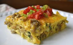 Sausage, Egg, and Spinach Overnight Casserole | Love this make ahead recipe! It's the perfect breakfast recipe if you hate waking up and making breakfast in the morning.