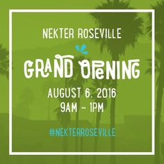 Norcal save the date for our Grand Opening!  Saturday August 6th 9am-1pm. First 50 people in line receive a Nekter tumbler! (RSVP via link in bio)  Plus you can enjoy: -$1 16oz juices or smoothies -$30 1 day cleanse while supplies last  Can't wait to see you all there!