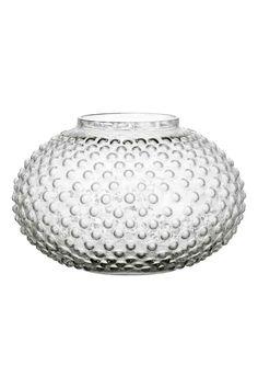Grand vase en verre texturé   H&M
