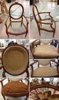 L'atelier de la Marquise : fauteuil à la reine
