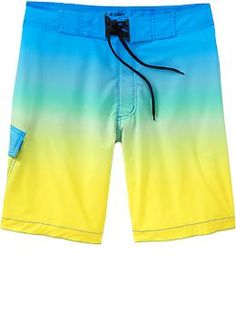 Oh my ombre - Men's Printed Stretch Board Shorts (Green Ombre)