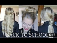 ❤ COAFURI SIMPLE DE FACUT ACASA , PENTRU SCOALA ! ❤ Back To School, Long Hair Styles, Youtube, Beauty, Perfect Hairstyle, Hairstyle Ideas, Hair, Long Hairstyle, Long Haircuts