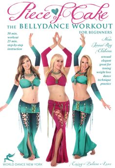 Piece of Cake - bellydance workout for beginners with Neon  #bellydance #bellydancer #bellydancing #belly #dance #dancing #dancer  #star #costume #costumes #outfit   #dvd #video $14.98 Dance, fitness, modeling instruction / classes  - video / DVD / iPhone, iPad Apps:  http://www.WorldDanceNewYork.com