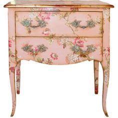 cottag, painted furniture, shabby chic, painted tables, vintage pink, paint furnitur, side tabl, pink furniture, vintage style