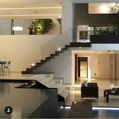Iluminação da escada.