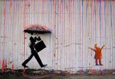 Banksy. Adulthood vs Childhood.