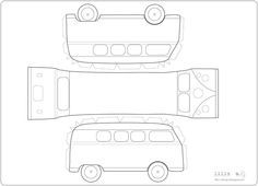 7 Best Images of VW Bus Paper Template Printable - VW Cars Paper Model Template, VW Bus Template Printable and Printable Camper Paper Template Cake Templates, Templates Printable Free, Printable Paper, Free Printables, Paper Toys, Paper Crafts, Paper Car, Sewing Room Furniture, Paper Models