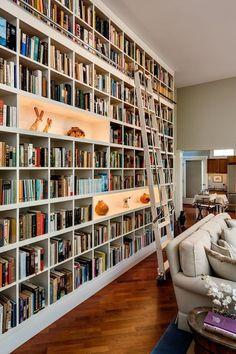 Floor To Ceiling Bookshelves, Unique Bookshelves, Wall Bookshelves, Bookshelf Ideas, Book Shelves, Wall Shelves, Home Library Design, House Design, Library Ideas