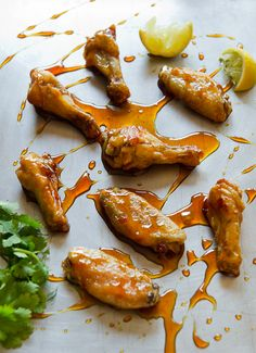 Asian Caramel Chicken Wings