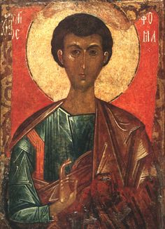 Russian and Ukrainian Icons: Saint Thomas the Apostle + + + Κύριε Ἰησοῦ Χριστέ, Υἱὲ τοῦ Θεοῦ, ἐλέησόν με τὸν + + + The Eastern Orthodox Facebook: https://www.facebook.com/TheEasternOrthodox Pinterest The Eastern Orthodox: http://www.pinterest.com/easternorthodox/ Pinterest The Eastern Orthodox Saints: http://www.pinterest.com/easternorthodo2/
