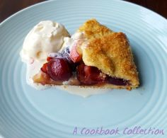 Cherry and Peach Galette | A Cookbook Collection