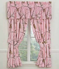 Real Tree AP Pink Curtains
