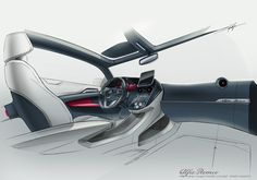 AlfaRomeo coupe 2 seater concept on Behance