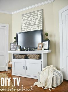 Diy Tv Console Cabinet -