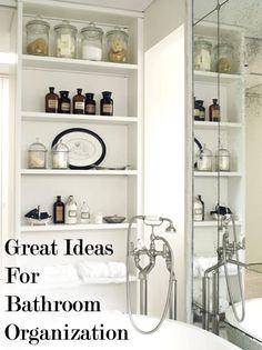 Bathroom Organizational Ideas