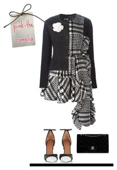 """""""black and white"""" by polychampion-805 ❤ liked on Polyvore featuring Givenchy, Chanel, Simone Rocha and blackandwhite"""