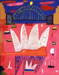 Ken Done painting of Sydney Harbour Bridge and Sydney Opera House