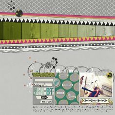 """""""Making Of - January Blogtrain"""" layout by Paddy Wolf, using the Bright Days bundle by Scrumptiously at Pixel Scrapper."""
