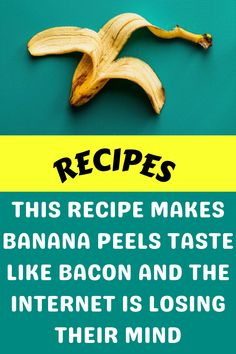 This Recipe Makes Banana Peels Taste Like Bacon And The Internet Is Losing Their Mind Diy Crafts For Girls, Diy Arts And Crafts, Amazing Life Hacks, Amazing Things, Diy Kinetic Sand, Diy Food, Food Food, Diy Barbie Clothes, Disney Jokes