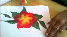 One Stroke Painting- Paint Along Floral Composition