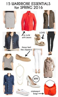 Spring Wardrobe Essentials for 2016 Click through for lots of great fashion style tips and ideas for Spring 2016!